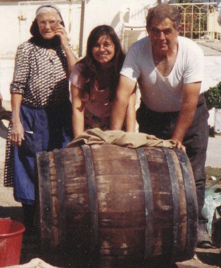 Making Retsina Wine