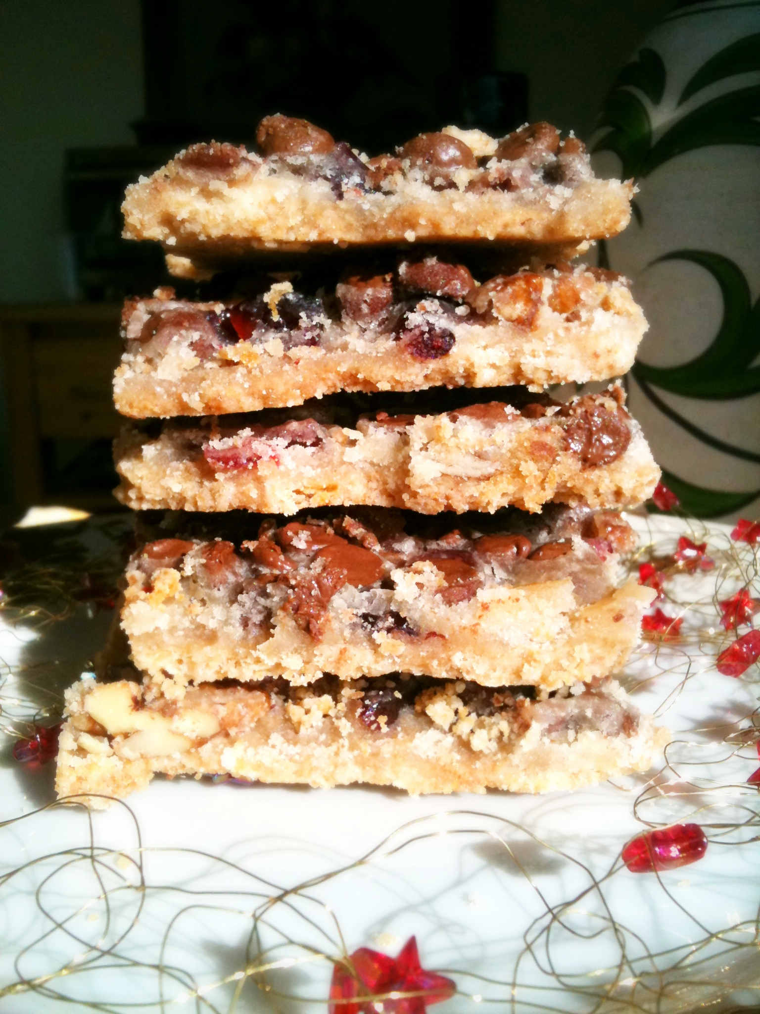 Cookie Love Cranberry Turtle Bars Georgiecakes