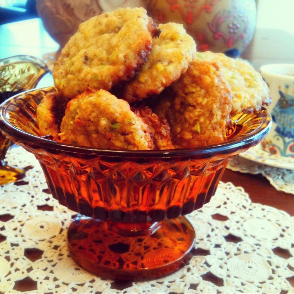 Pistachio Orange Oatmeal Cookies