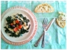 Wilted Kale & Hummus Salad