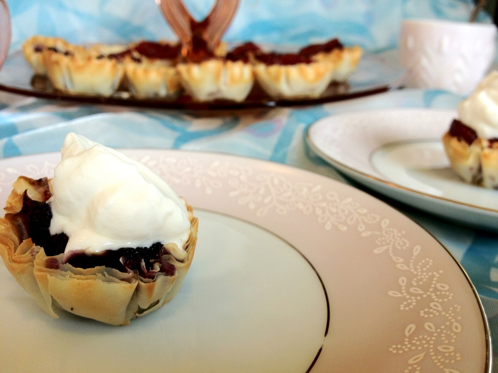 Blueberry Thyme Phyllo Pie