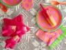 Cantaloupe Honey & Strawberry Watermelon Popsicles