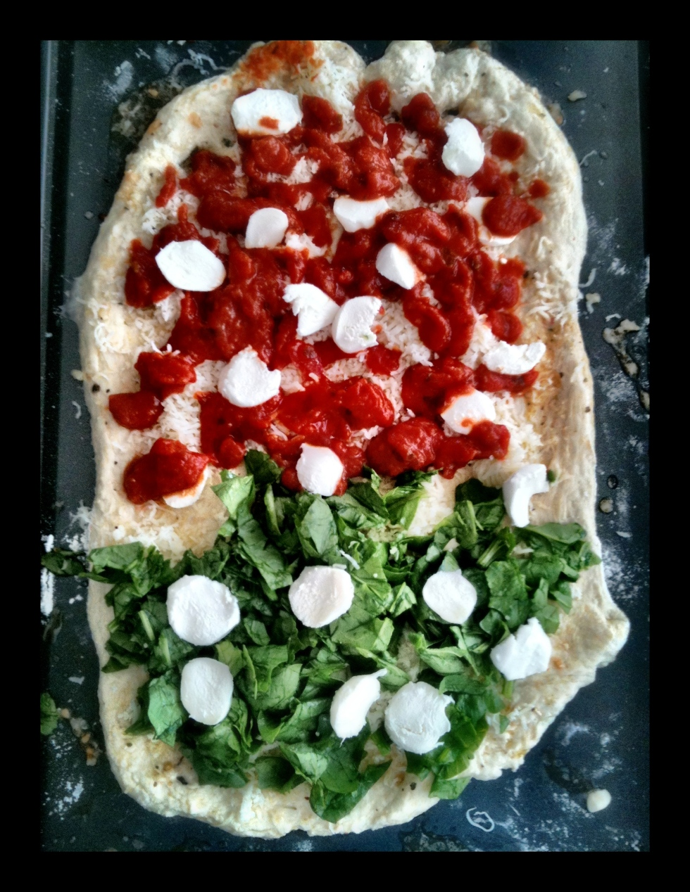 Margherita & Spinach Pizza