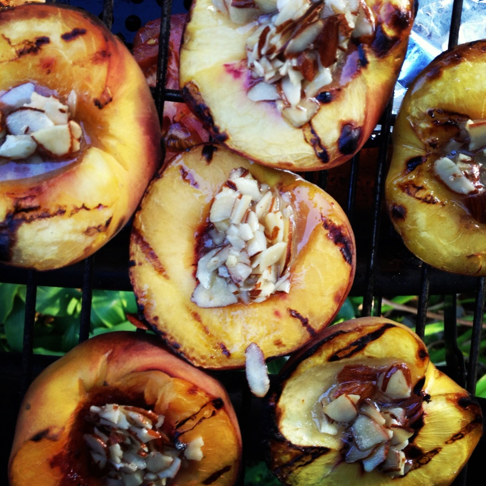 Grilled Peaches with Maple Butter